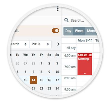 email calendar app screenshot